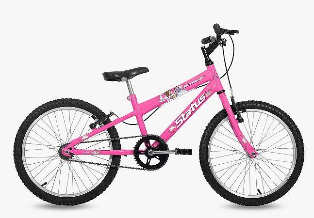 Bicicleta Status Belíssima R20 Rosa Flúor