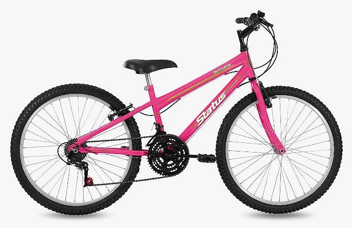 Bicicleta Status Belíssima R24 18v Rosa Barbie