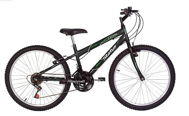 Bicicleta Status Lenda R24 18v Grafite
