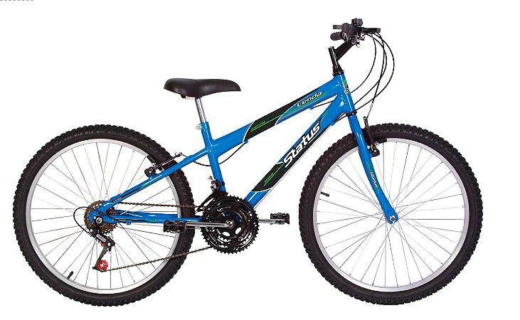 Bicicleta Status Lenda R24 18v Azul Porche