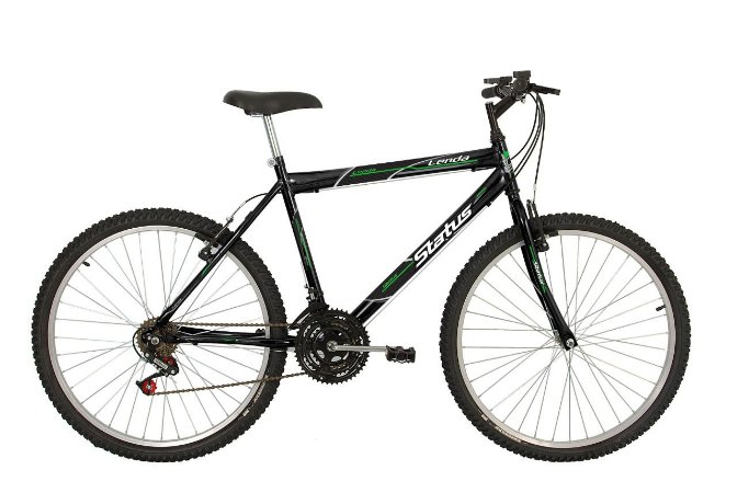 Bicicleta Status Lenda R26 18v Preto Brilhante
