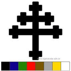 Adesivo - Cruz de Lorena