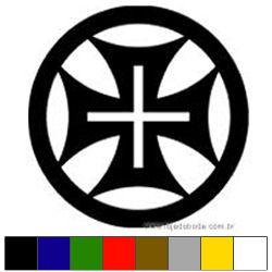 Adesivo - Cruz Templária