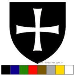 Adesivo - Escudo Templário