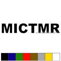 Adesivo - MICTMR - 7cm