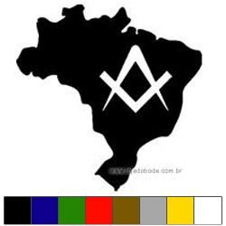 Adesivo Brasil com Esquadro Vazado