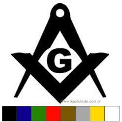 Adesivo Esquadro Compasso e G