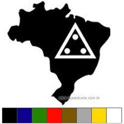Adesivo Mapa do Brasil c/ Triângulo 3 Pontos