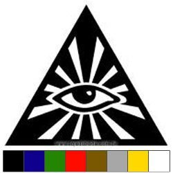 Adesivo Triângulo Olho que tudo Vê