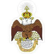 Adesivo - Águia Bicefala - Grau 33