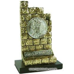 Adorno O Muro Companheiro - Metalizado - Dourado