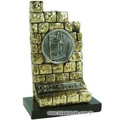 Adorno O Muro Mestre - Metalizado - Dourado