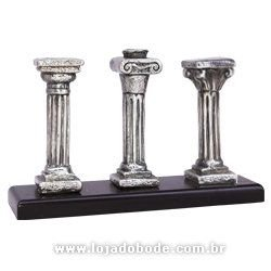 Conjunto 3 Ordens Arquitetônicas (3 Colunas Maçônicas) - Prata