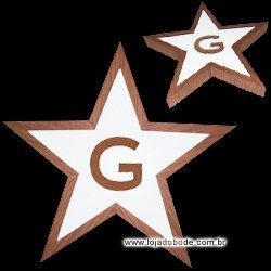 Estrela de Cinco Pontas com G - Iluminado (LED)