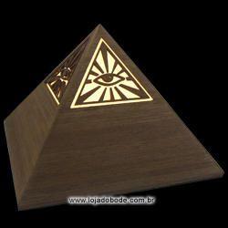 Luminária Pirâmide com Olho que Tudo Vê