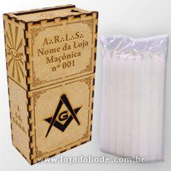 Caixa Personalizada Para 7 Velas  com o Nome da Loja + 21 velas
