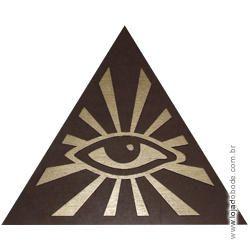 Delta (Triângulo) em madeira com Olho (GADU) em dourado