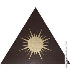 Delta (Triângulo) em madeira com Sol em dourado