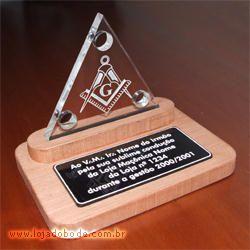 Placa de Homenagem Triângulo 3 Pontos