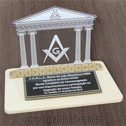 Placa de Homenagem Templo Maçônico