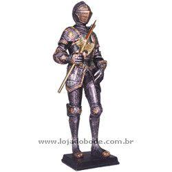Guerreiro Medieval com Alabarda - 33cm