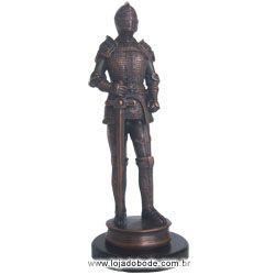 Soldado c/ Espada - 35cm - Metalizado - Bronze