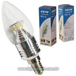 Lâmpada LED tipo vela 5W (bivolt)