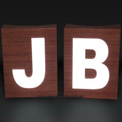 Letras B J Iluminadas para colunas