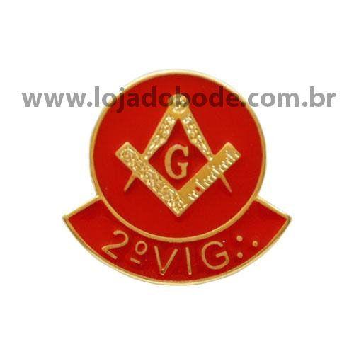 Pin 2º Vigilante - vermelho