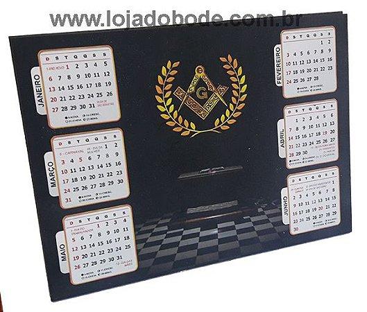 Calendário de mesa 6 meses 2019 - Esquadro e Compasso