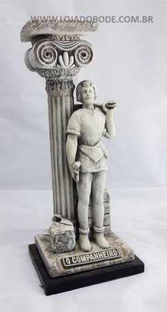 Estatueta Companheiro Resina Marmorizada - 31cm