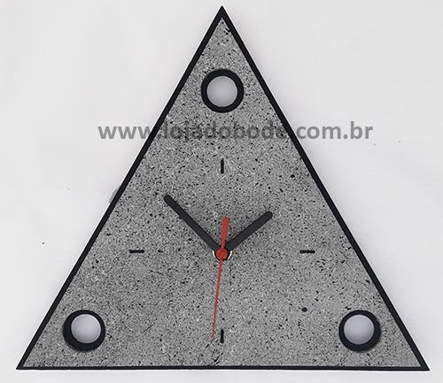 Relógio Triângulo 3 Pontos - Madeira Imitação Granito