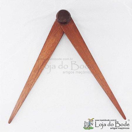 Compasso Madeira - 25cm