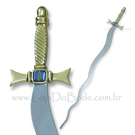 Espada Flamígera - Maçônica Ritualística Dourada
