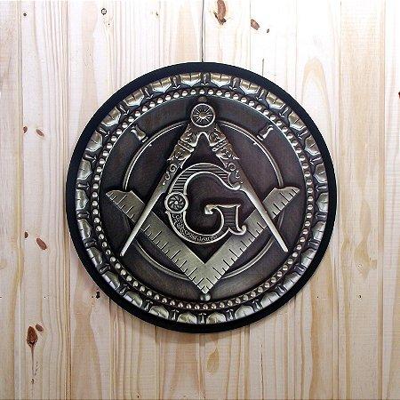 Quadro - Decoração de Parede Esquadro e Compasso 60cm