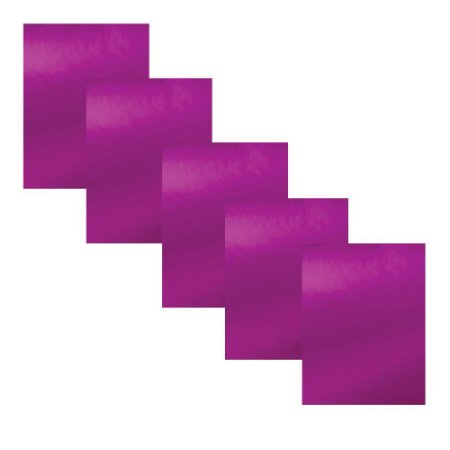 Kit 5 Folhas Papel para Scrapbook Metal A4 Lilás