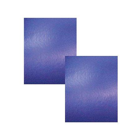 Kit 2 Folhas Papel para Scrapbook Metal A4 Azul Opaco