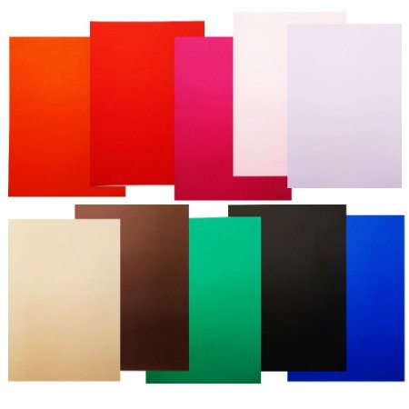 Kit 10 Unidades Papel para Scrapbook A4 Coloridos