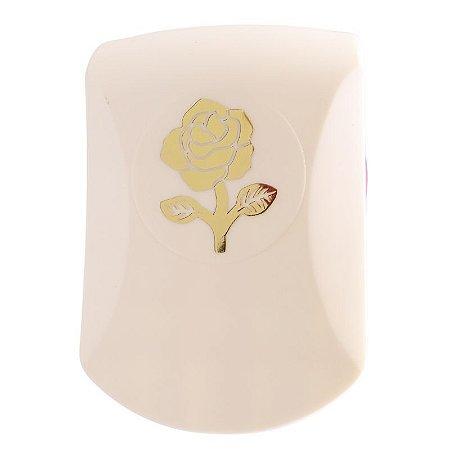 Furador para Papel 32 mm Botão de Rosa Inteiro Emboss