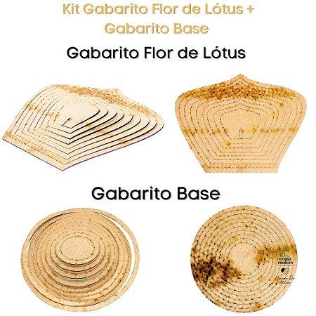 Kit Gabarito Flor Grande Flor de Lótus 10x15cm + Base Redonda
