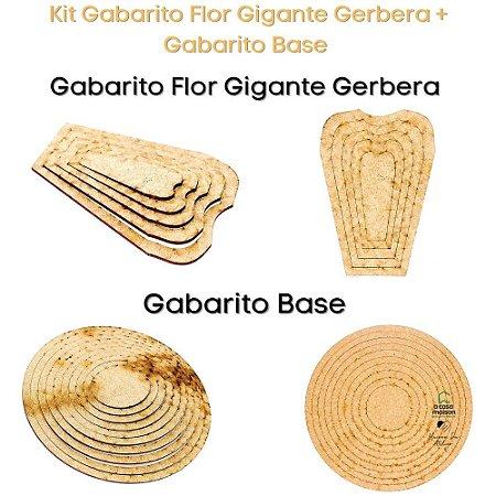 Kit Gabarito Flor Grande Gerbera A4 + Base Redonda