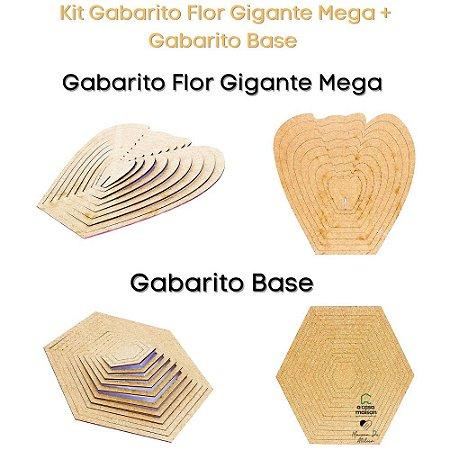 Kit Gabarito Flor Mega 30x30cm + Bases