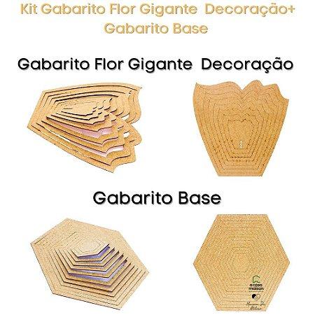 Kit Gabarito Flor Decoração 30x30cm + Bases