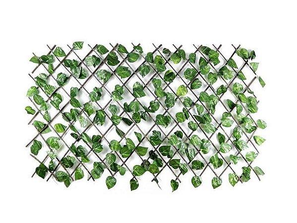 Treliça em Madeira com Folhas de Hera Artificial Média