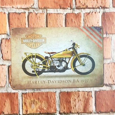 Placa em Metal Vintage de Motos 30cm x 20cm Harley5