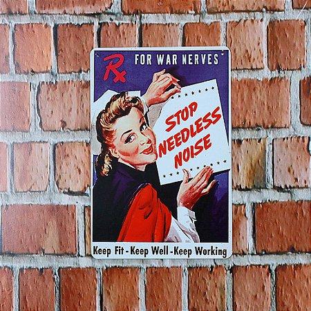 Placa em Metal Vintage Garagem 30cm x 20cm Vintage2