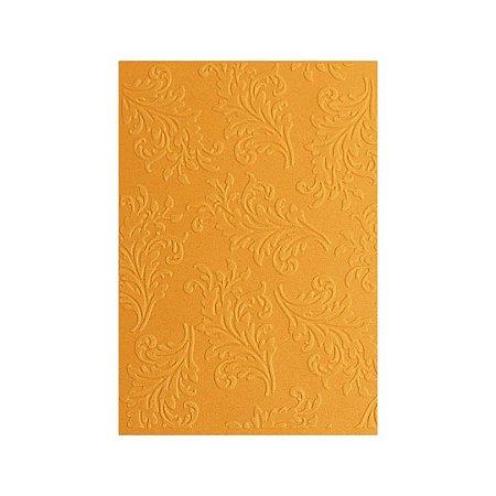 Placa de Textura Emboss 10,6 cm x 15 cm Folha Arabesco