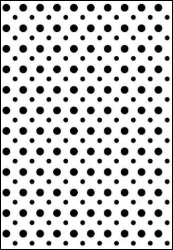 Placa de Textura Emboss 10,6 cm x 15 cm Poá Bolinhas