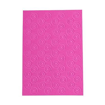 Placa de Textura Emboss 10,6 cm x 15 cm Círculos