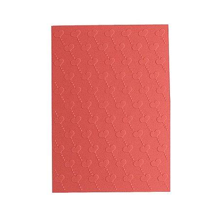 Placa de Textura Emboss 10,6 cm x 15 cm Coração